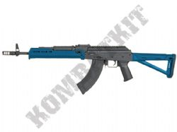 CM.077 BB Gun Kulikov-T Custom AK47 Replica AEG Electric Airsoft Rifle 2 Tone Blue Black